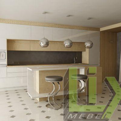 Кухня с остров L-2