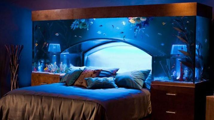 Легло с аквариум вграден в него ликс Мебел Бургас