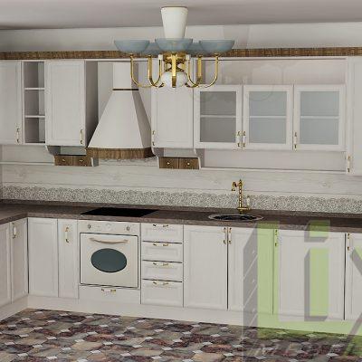 Кухня винтиндж стил L-13